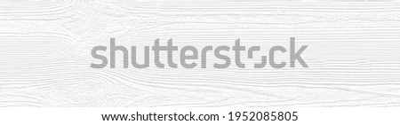 Cool white wooden board texture for backgrounds or design. Rustic plywood  wallpaper. Weathered pine grain wood template with horizontal lines. Vector EPS10. Zdjęcia stock ©