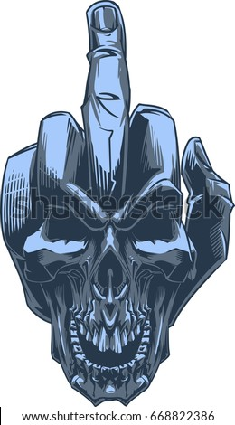 Cooler and middle finger