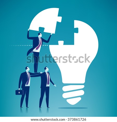 Cooperation. Business concept illustration