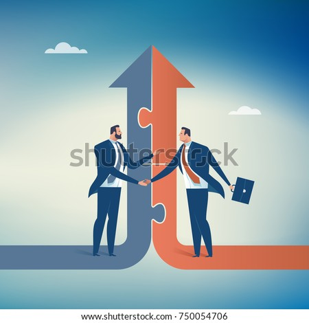 Cooperation. Concept business illustration