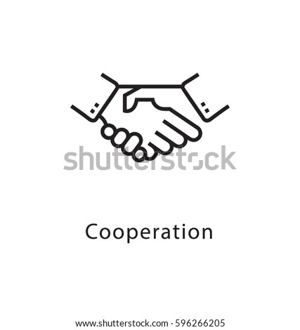 Cooperation Vector Line Icon