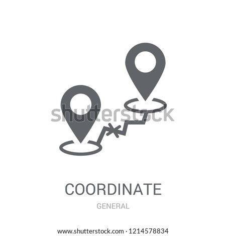 coordinate icon. Trendy coordinate logo concept on white background from General collection. Suitable for use on web apps, mobile apps and print media. #1214578834