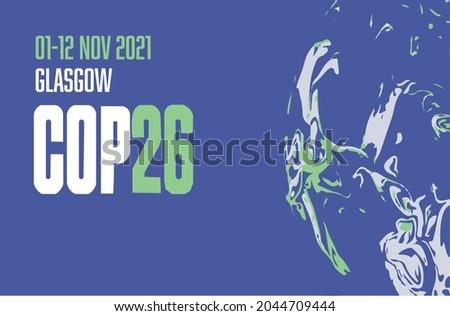 COP 26 Glasgow 2021 vector illustration - International climate summit