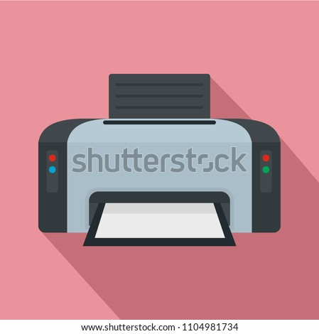 Copier printer icon. Flat illustration of copier printer vector icon for web design