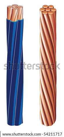 Copper electrical cable (vector figure)