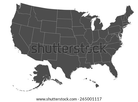United States Map Vector Download Free Vector Art Stock - Us map black and white vector