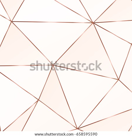 copper metallic polygonal...