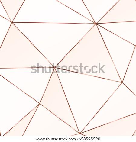 copper triangles geometric