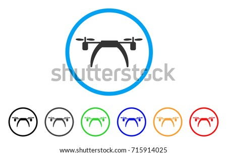 Shutterstock Copter icon. Vector illustration style is a flat iconic copter gray rounded symbol inside light blue circle with black, gray, green, blue, red, orange color additional versions.