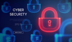 Coputer internet cyber security background. Cyber crime vector illustration. digital lock vector illustration EPS 10.