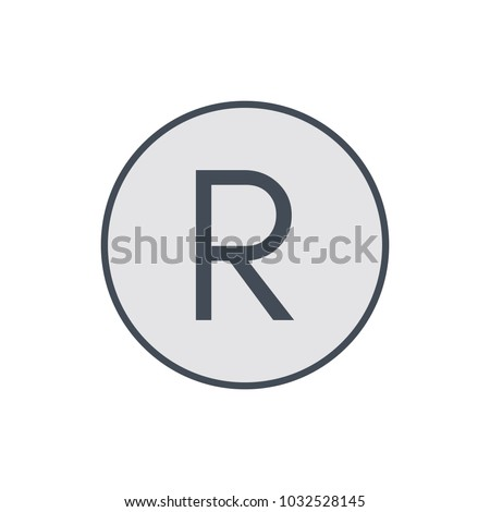 Copy copyright mark registred restriction right icon. Vector illustration