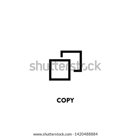 copy icon vector. copy sign on white background. copy icon for web and app