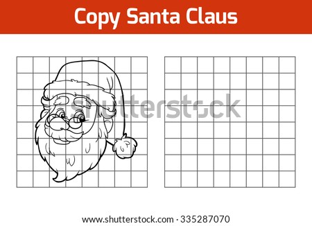 Copy the picture, education game for children: Santa Claus