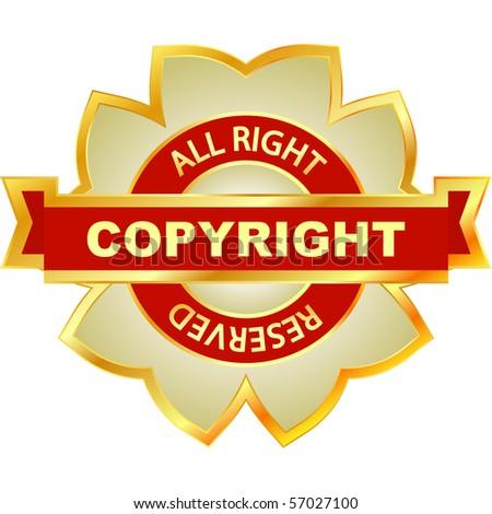 Copyright label for sale. Vector illustration.