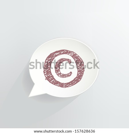 Copyright Speech Bubble Icon