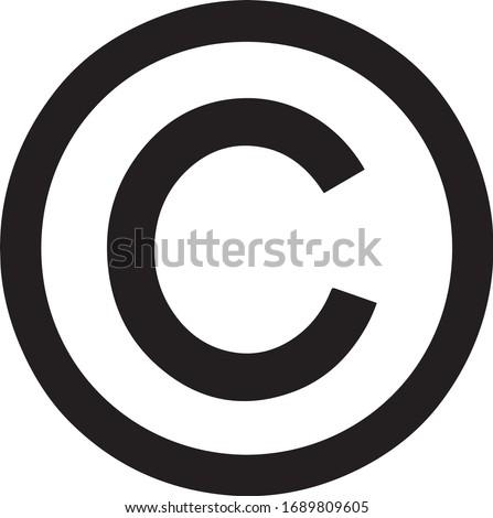 Copyright symbol, copyright logo icon, sign vector Сток-фото ©