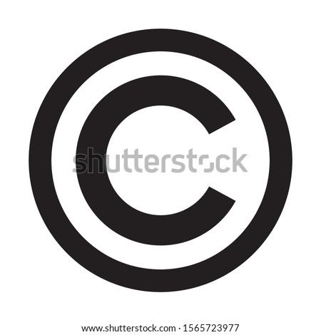 Copyright symbol icon. C letter in circle Сток-фото ©