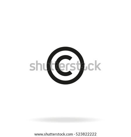 Copyright symbol vector icon.