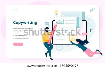 copywriter web banner concept