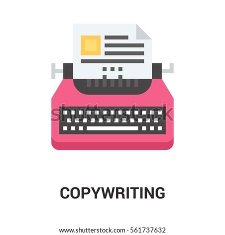copywriting icon concept.