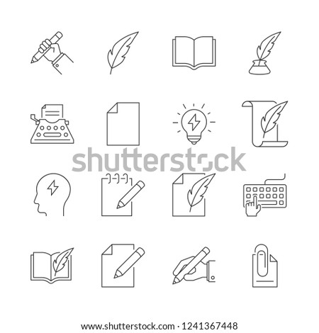 Copywriting outline icons #1241367448