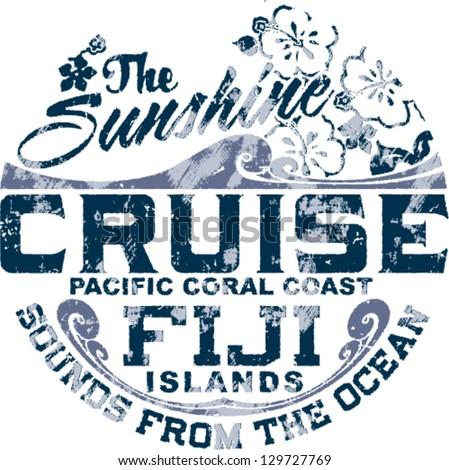 coral coast   grunge vector