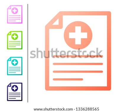 Vector Set Of Colorful Buttons Of Prescription Pad Icon - Download