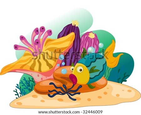 coral reef scene