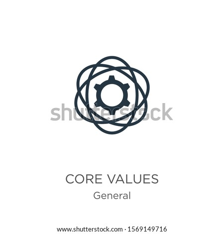 Core values icon vector. Trendy flat core values icon from general collection isolated on white background. Vector illustration can be used for web and mobile graphic design, logo, eps10