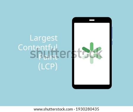 core web vitals for Largest Contentful Paint (LCP) Foto d'archivio ©