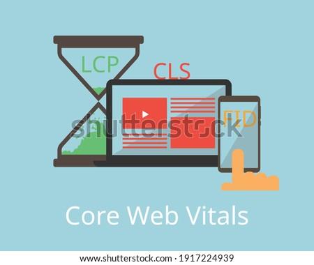 core web vitals for Web Performance Metrics Foto d'archivio ©
