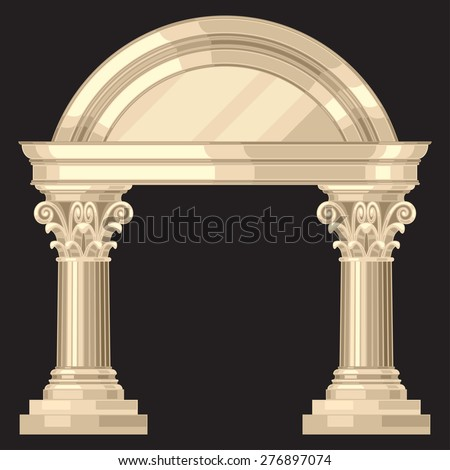 corinthian realistic antique