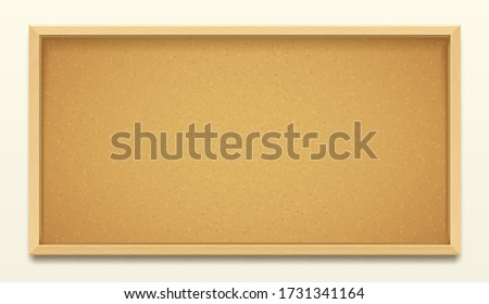 Cork board wood frame background, pin noticeboard Stock photo ©