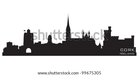cork  ireland skyline detailed
