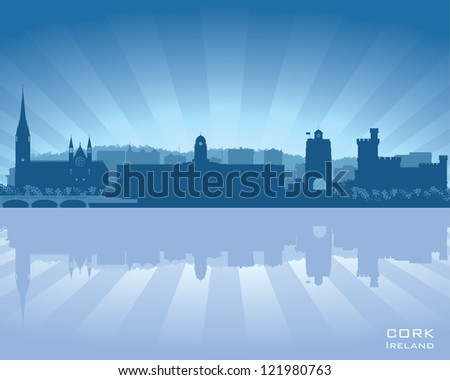 cork  ireland skyline with