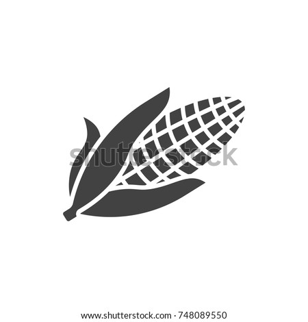 Corn black filled solid icon.