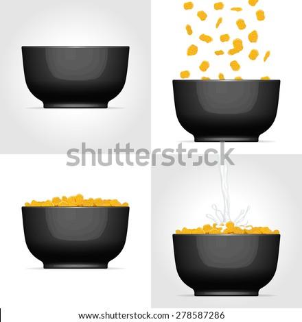 corn flakes black bowl