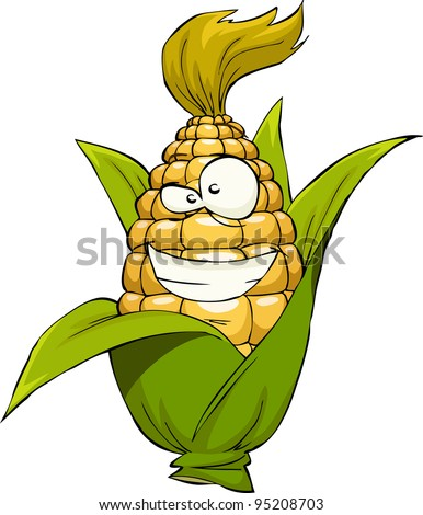 Corn on a white background, vector illustration