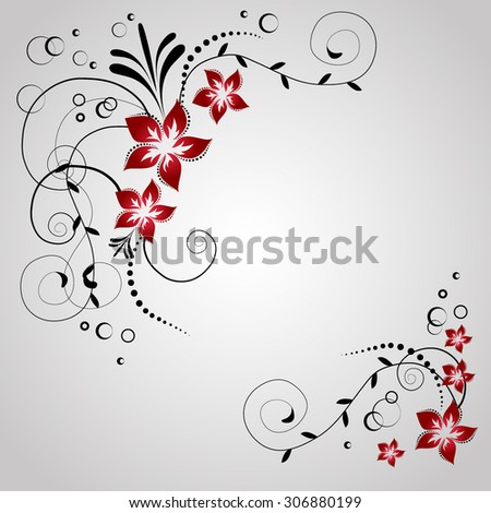 corner flowers for invitation