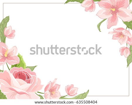 flower border template