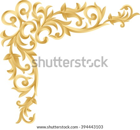 scrolled flowers scroll borders download free vector art stock graphics images