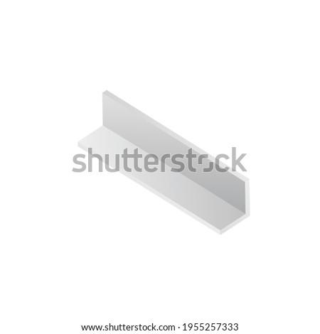 Corner shape construction beam or balk, realistic vector illustration isolated. Stockfoto ©