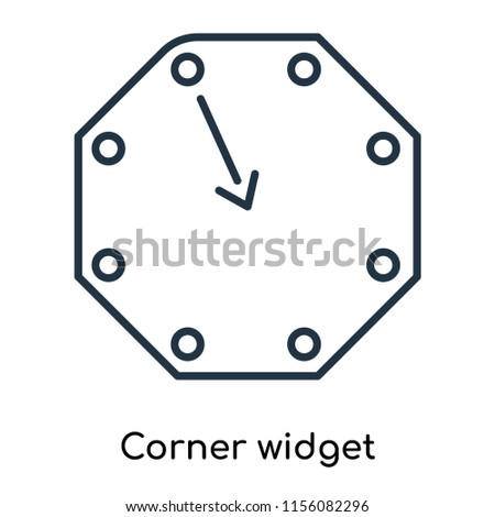 Corner widget icon vector isolated on white background, Corner widget transparent sign , thin symbols or lined elements in outline style
