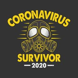 Corona Virus - Coronavirus Survivor 2020 t-shirt. vector design.