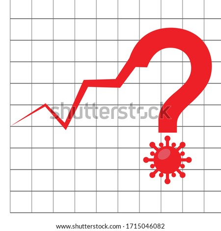 corona virus curve and question mark with virus logo Foto stock ©