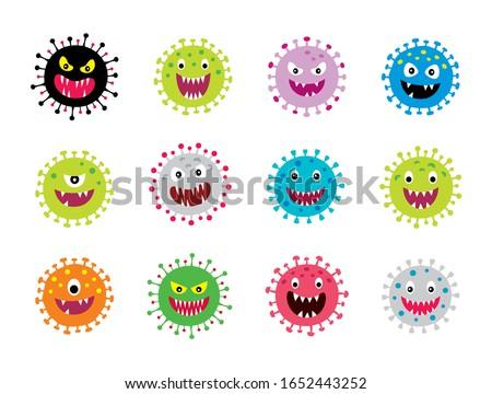corona virus graphic vector collection