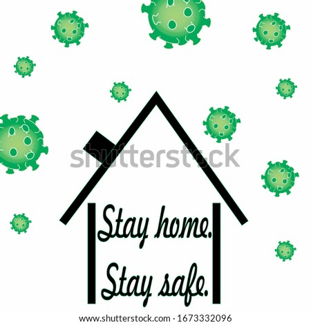 Corona virus written in typography poster design.Save planet from corona virus.Stay safe,stay inside home.Prevention from virus.