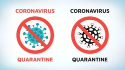 Coronavirus. Chinese coronavirus outbreak. Stop coronavirus. Coronavirus wuhan sars illness. Antibacterial sign set. Bacteria kill symbol. Control infection. Germ kill. Infection icon. Coat isolated.
