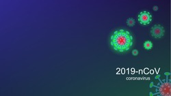 Coronavirus COVID-19 outbreak and coronaviruses influenza background. Coronavirus 2019-nCoV. Pandemic medical health risk, immunology, virology, epidemiology concept.