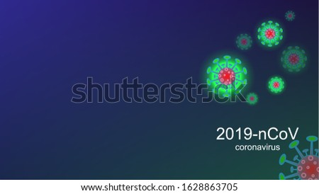 Coronavirus COVID-19 outbreak and coronaviruses influenza background. Coronavirus 2019-nCoV. Pandemic medical health risk, immunology, virology, epidemiology concept.